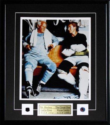 Wayne Gretzky & Gordie Howe Locker Room 11x14 Frame