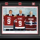 Three Great 9's 16x20 frame Howe Richard Hull