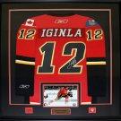 Jarome Iginla Calgary Flames signed jersey frame