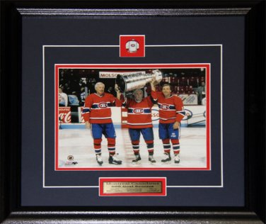 Jean Beliveau Maurice Richard Guy Lafleur Stanley Cup 8x10 frame