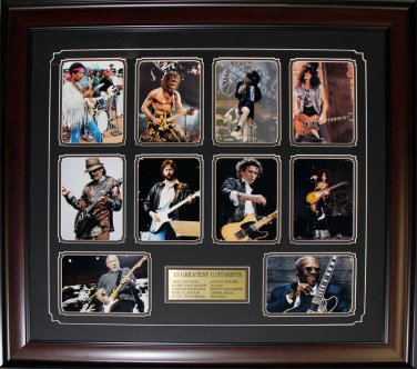 Top 10 Guitarists Compilation Rock N Roll music frame