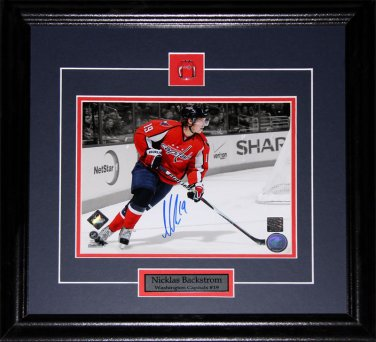 Nicklas Backstrom Washington Capitals signed 8x10 frame