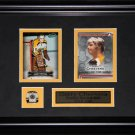 Gerry Cheevers Boston Bruins 2 card frame