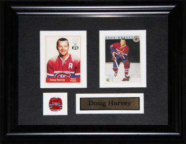 Doug Harvey Montreal Canadiens 2 card frame