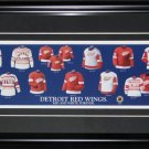 Detroit Red Wings jersey evolution frame