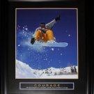 Courage Snowboarding Motivational large frame