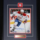 Brian Gionta Montreal Canadiens signed 8x10 frame