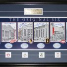 Original Six Arenas Lithograph Signed Richard Howell Ulman Cheevers Pilote Bower