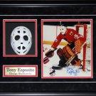 Tony Esposito Chicago Blackhawks Mask Replica Signed Photo Frame