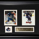 Todd Bertuzzi Vancouver Canucks 2 Card frame