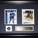 Tim Horton Toronto Maple Leafs 2 card frame
