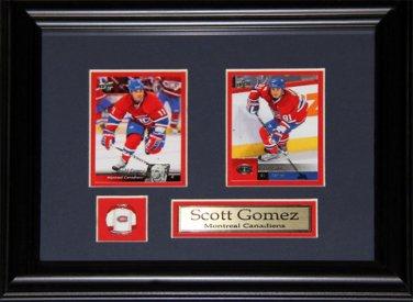 Scott Gomez Montreal Canadiens 2 Card Frame