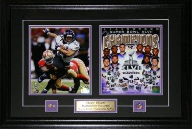 Ray Rice Baltimore Ravens Superbowl XLVII 2 photo frame