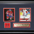 Andrei Markov Montreal Canadiens 2 Card frame