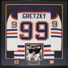 Wayne Gretzky Edmonton Oilers Signed jersey frame (white)