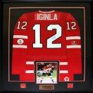 Jarome Iginla Team Canada signed jersey frame