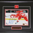 Henrik Zetterberg Detroit Red Wings Signed 8x10 frame