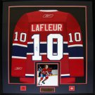 Guy Lafleur Montreal Canadiens signed jersey frame