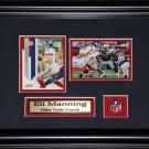 Eli Manning New York Giants 2 card frame