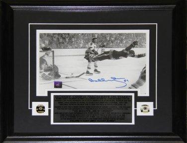 Bobby Orr The Goal Black & White 7.25x11 signed frame