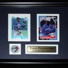 Tony Fernandez Toronto Blue Jays 2 card frame