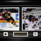 Ray Bourque Boston Bruins Colorado Avalanche signed 2 photo frame