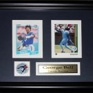 George Bell Toronto Blue Jays 2 card frame