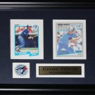 Ernie Whitt Toronto Blue Jays 2 card frame