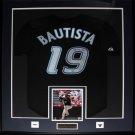Jose Bautista Toronto Blue Jays signed jersey frame
