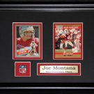 Joe Montana San Francisco 49ers 2 card frame