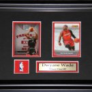 Dwayne Wade Miami Heat 2 Card Frame