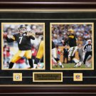 Ben Roethlisberger Pittsburgh Steelers signed 2 photo frame