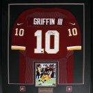 Robert Griffin III RG3 Washington Redskins signed jersey frame