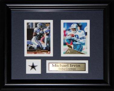 Michael Irvin Dallas Cowboys 2 card frame