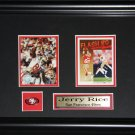 Jerry Rice San Francisco 49ers 2 card frame