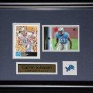 Calvin Johnson Detroit Lions 2 card Frame