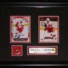 Nicklas Lidstrom Detroit Red Wings 2 card frame