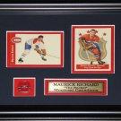 Maurice Richard Montreal Canadiens 2 Card frame