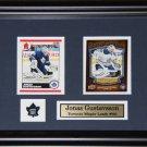 Jonas Gustavsson Toronto Maple Leafs 2 Card frame