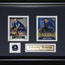 Johnny Bower Toronto Maple Leafs 2 Card Frame