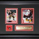 Chris Neil Ottawa Senators 2 Card Frame