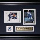 Borje Salming Toronto Maple Leafs 2 card frame