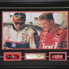 Dale Earnhardt Jr & Sr 16x20 with replica toy cars frame