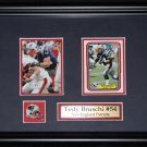 Tedy Bruschi New England Patriots NFL 2 card frame