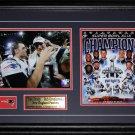 Tom Brady & Rob Gronkowski New England Patriots Superbowl XLIX 2 photo frame