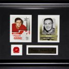 Terry Sawchuk Detroit Red Wings 2 card frame