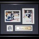 Brian Little Winnipeg Jets 2 card frame