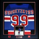 Wayne Gretzky New York Rangers signed jersey frame