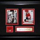 Corey Crawford Chicago Blackhawks NHL 2 card frame