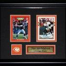 Jim McMahon Chicago Bears NFL 2 card frame